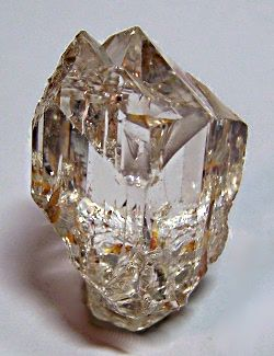 "Topaz - Sakangyi, Mogok, Burma . 1 1/2"" x 1"". Extremely clear with very sharp termination. Collected in 1997. Pale champagne color.Wrights Rock Shop Classics Gallery 12.      Via Deanne Guenther"