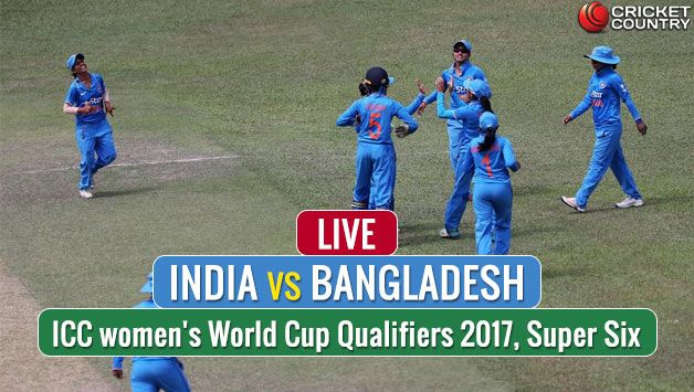 Live Cricket Score, India vs Bangladesh, ICC Women World Cup Qualifier 2017, Super Six: IND W win by 9 wickets