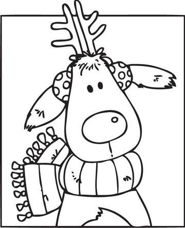 Cute raindeer cartoon