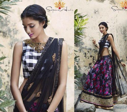 solah-shringar:  Hair and makeup by Thusa Outfit by Sapna Amin
