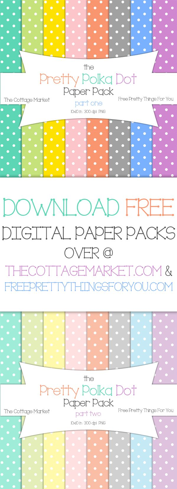 Polka Dot Digital Paper Pack  A Gift for YOU! Perfect for Scrapping and Crafting!  ENJOY!