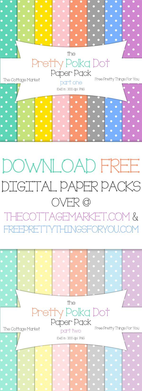 Free Polka Dot Digital Scrapbooking Paper