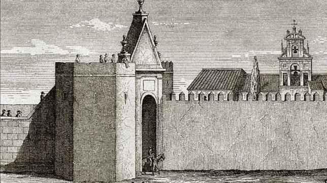 La Puerta de la Barqueta (Sevilla) Puerta de la Almenilla, de origen almorávide fue reformada constantemente; también denominada puerta de la Barqueta, se hallaba en la calle Calatrava, en la plazoleta del Blanquillo. Su construcción, hizo de muro de contención en muchas de las crecidas del río por esa zona.