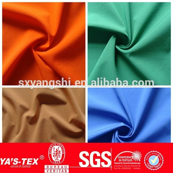 Source New Fashion Waterproof Polyester Spandex Fabric, 4 Way Stretch Fabric, Wholesale Lycra Fabric Spandex For Garment on m.alibaba.com    different fibre comps