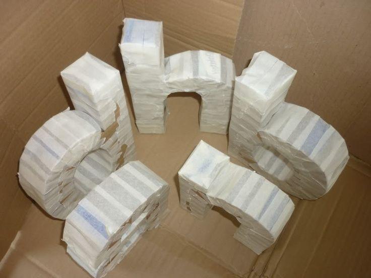 My Type of Decor - DIY 3D Letters | D.I.Y / Crafty | Diy ...
