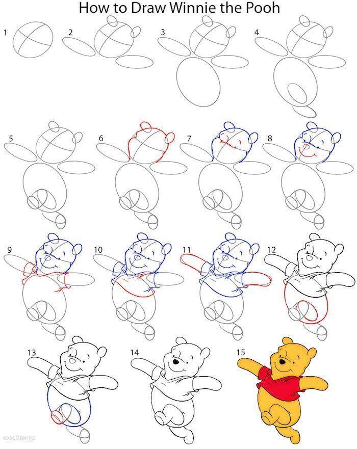 10 Disney How To Drawings Disney Drawing Tutorial Winnie The Pooh Drawing Disney Drawings