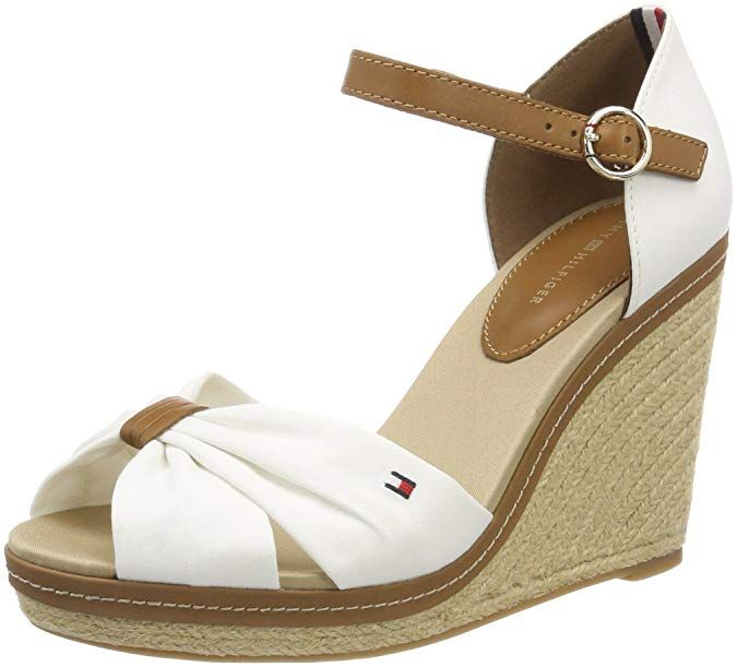 Tommy Hilfiger Iconic Elena Sandal Sandalias Con Plataforma Para Mujer Amazon Es Zapatos Y Compl Womens Fashion Shoes Tommy Hilfiger Women Closed Toe Wedges
