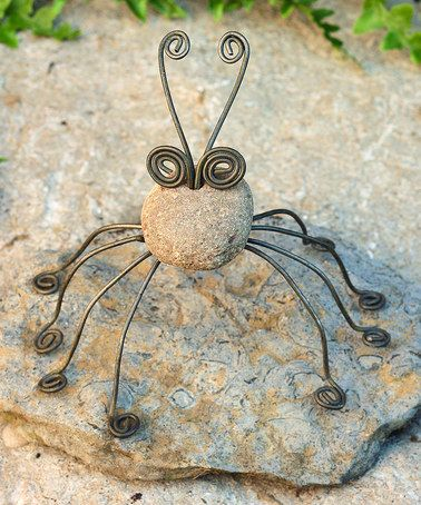 Another great find on #zulily! River Stone Spider Statue #zulilyfinds