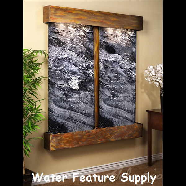 The Cottonwood Falls Wall Mounted Water Feature Is A Clic Looking Fountain With Three Panels This Large Perfect For Your Office
