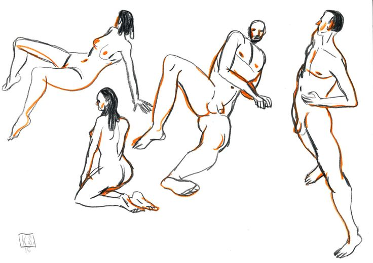 """kaischuettler: """"More drawings with posemaniac ref. """""""