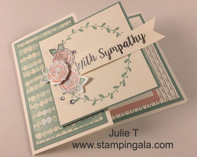 Ordinary Sympathy Card Ideas To Make Part - 6: BEAUTIFUL FOLD SYMPATHY CARD VIDEO AND DIMENSIONS Here Is A Beautiful Sympathy  Card That Is Very Easy To Make. Unfortunately, They Are The Kind Of Cards  ...