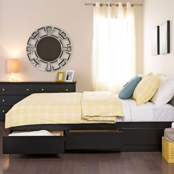Malm Storage Bed Black Brown Full Double Ikea Black Bedding