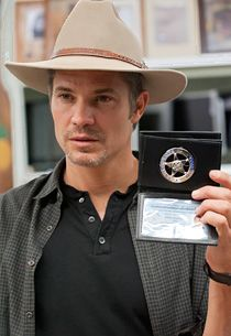 Justified - Timothy Olyphant. One of my favorite TV shows! Love it & he ain't hard on the eyes! Viv