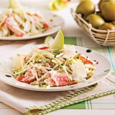 Salade de crabe et pommes - Entrées et soupes - Recettes 5-15 - Recettes express 5/15 - Pratico Pratiques