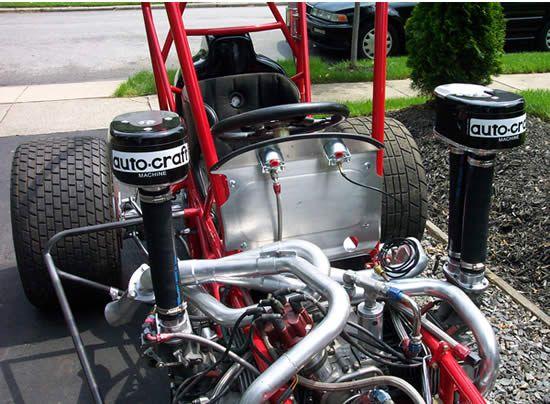 MG Midget vs Volkswagen Beetle Autocross Racing Battle