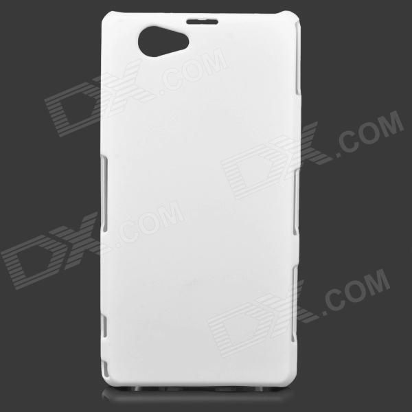 Color: White; Brand: N/A; Model: N/A; Material: ABS; Quantity: 1 Piece; Compatible Models: Sony Xperia Z1 Mini / Xperia Z1S / Xperia Z1 f / D5503; Other Features: Protects your device from scratches, dust and shock; Packing List: 1 x Protective case; http://j.mp/1ljLWPY