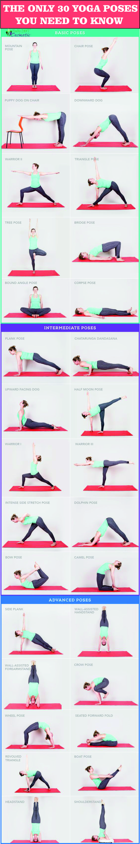The Only 30 Yoga Poses You Really Need to Know PIN IT!