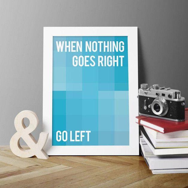 PLAKAT MOTYWACYJNY - A3 - plakat typograficzny - KateSyskaDesign - Ozdoby na ścianę