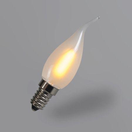 Bombilla filamento LED C35T E14 1W 2200K mate
