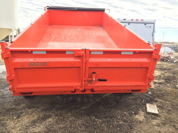 "Dump Box 35835 Bumperpull 14' x 83"" 2 x 7K Kubota Orange - HWY 43 TRAILER SALES"