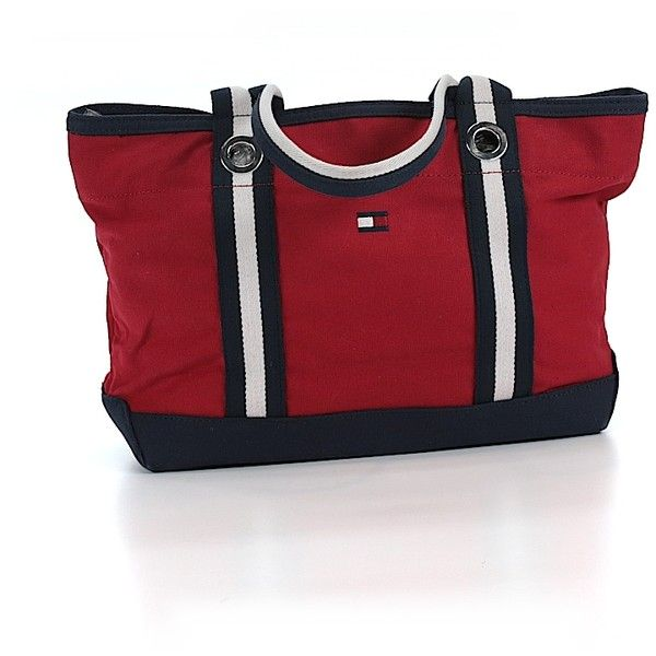 Pre-owned Tommy Hilfiger Tote: Red Women's Bags (225 BRL) ❤ liked on Polyvore featuring bags, handbags, tote bags, red, handbags totes, tommy hilfiger handbags, tommy hilfiger tote, man tote bag and red tote purse
