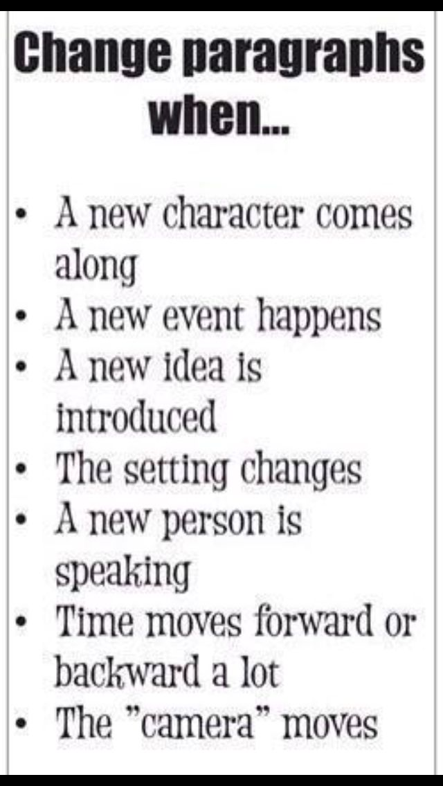 When students should make new paragraphs. I run into these problems all the time!