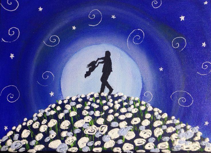 28 best mi barrio images on pinterest all alone art drawings papa jugando con su hija con relieves de las rosas en blanco pedidos y ms cuadros fandeluxe Choice Image