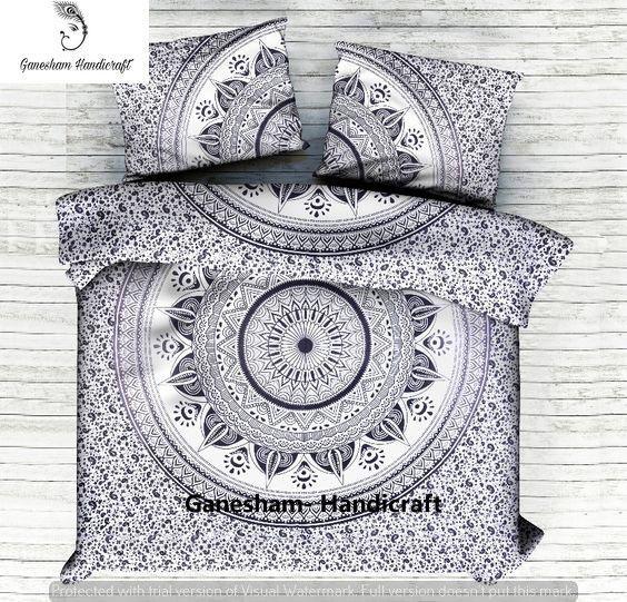 Indian Hippie Tapestry Bohemian Bedspread Mandala Bedding Handmade Duvet Cover | Home & Garden, Bedding, Duvet Covers & Sets | eBay!