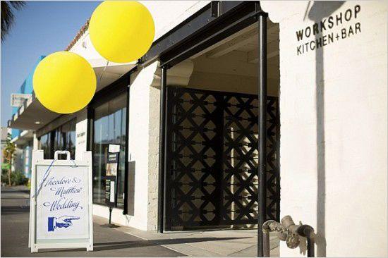 workshop kitchen and bar wedding venue