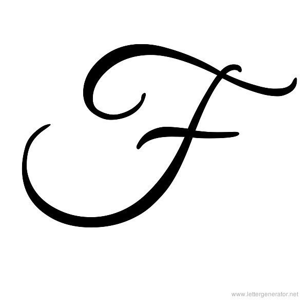 """Fancy Script Tattoo Generator: Pull The Tail In To Make A Heart For My """"f"""""""
