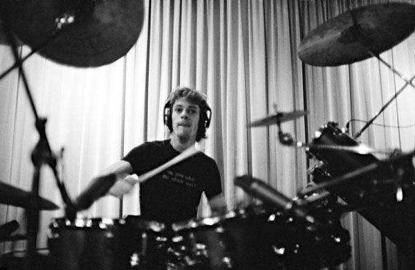 Stewart Copeland , Drumming, Holland, 1982 - Andy Summers photo