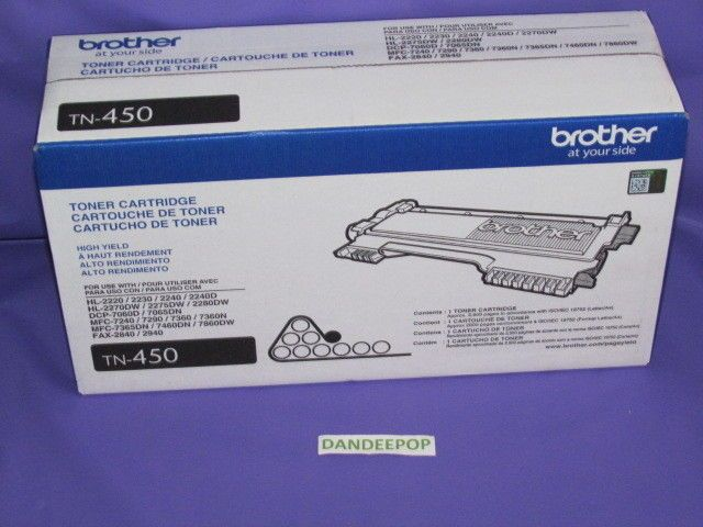 Brother Toner Ink Cartridge TN-450 New  #Brother #toner #ink #tn450 #dandeepop Find me at dandeepop.com