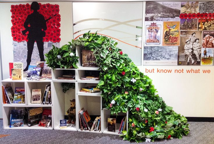 ANZAC Library Display for 2016. Commemorating our soldiers who fought in WW1.