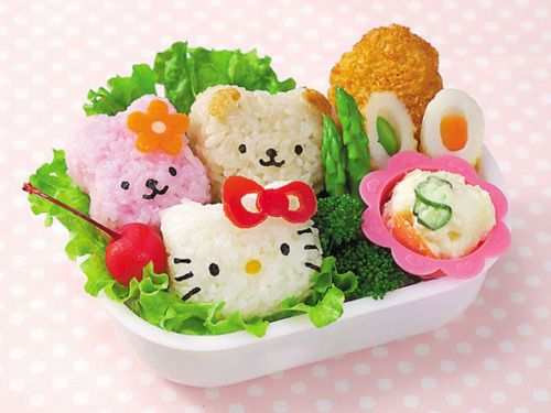 Kitty Lunch. Even you are hungry, i believe you wont eat it. It is so cute!!!