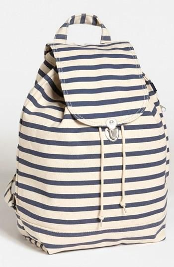 Perfect navy striped backpack.