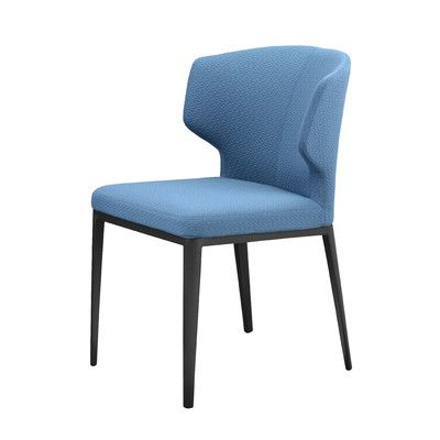 Mercury Row Side Chair (Set of 2) Upholstery: Blue