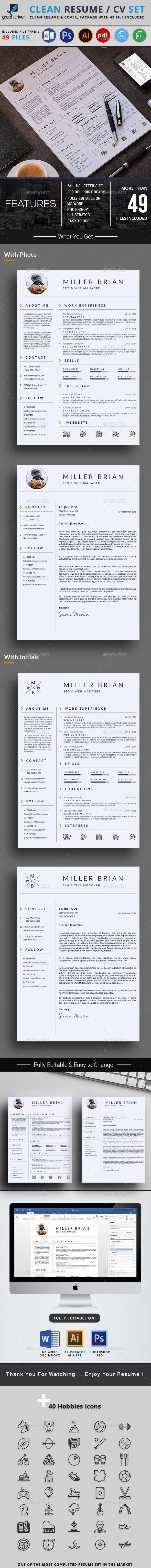 sample cover letters for resumes%0A Modern professional resume and cover letter templates in A  and US letter  formats  Flexible and