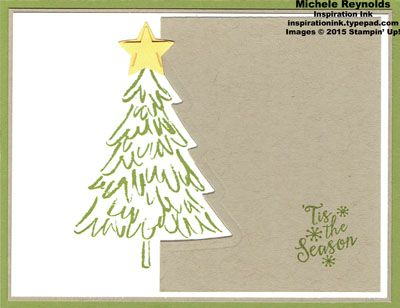 Peaceful Pines Cutout Pine by Michelerey - Cards and Paper Crafts at Splitcoaststampers