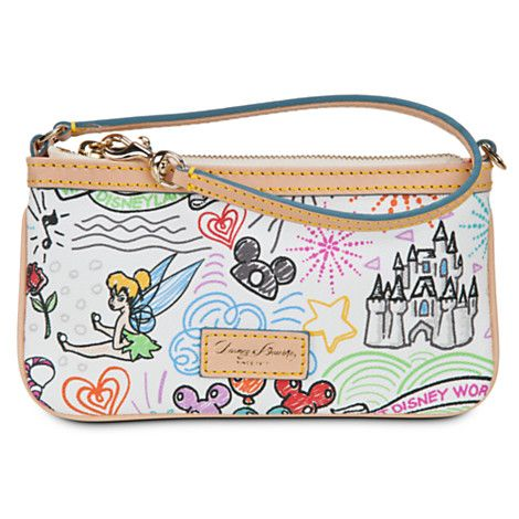 WANT WANT WANT Disney Sketch Leather Wristlet by Dooney & Bourke | Bags & Totes | Disney Store