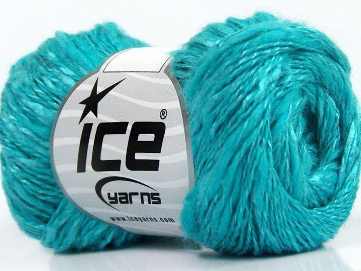 Limited Edition Spring-Summer Yarns Viskon Yazlık  Pamuk Flamme Natural Yarn Fine Weight Cam Göbeği  İçerik 60% Pamuk 40% Viskon Light Turquoise Brand ICE fnt2-41427