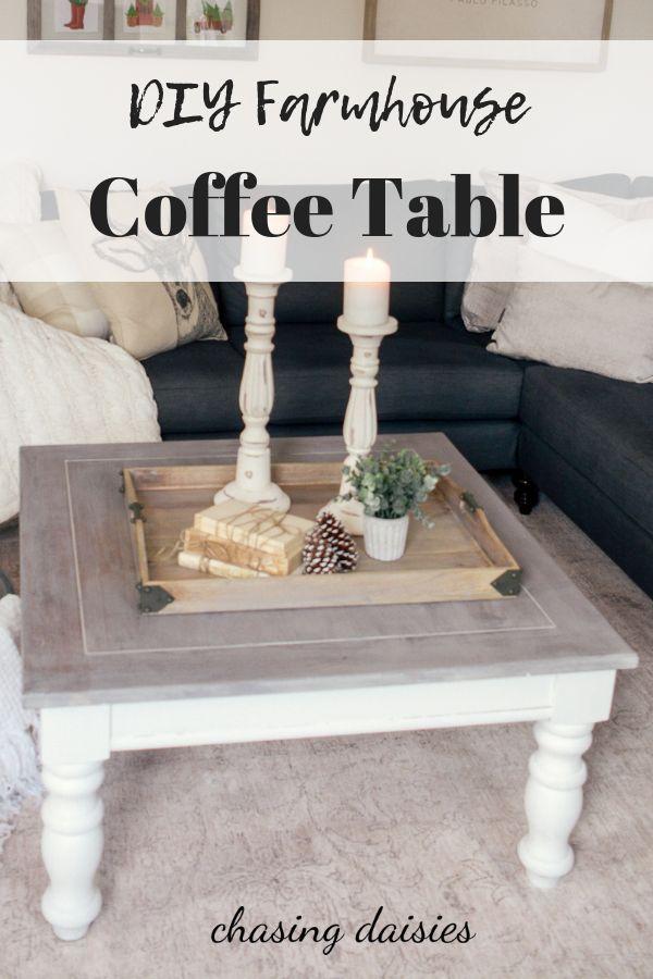 DIY Farmhouse Coffee Table: Facebook Marketplace Finds