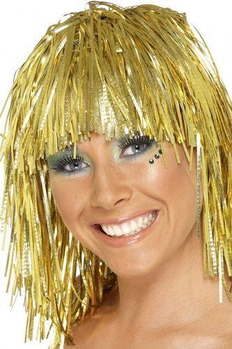 Parrucca metallica oro adulto: basta davvero poco per fare festa! Questa parrucca tutta dorata a soli € 1.99 sarà l'accessorio giusto per completare il tuo look e festeggiare l'arrivo del 2016.