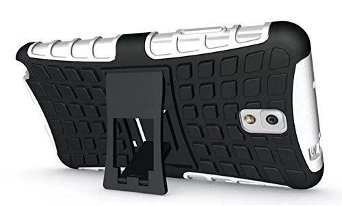 FALIANG Samsung Galaxy Note 3 Funda, 2in1 Armadura Combinación Neumáticos Patrón A Prueba de Choques Heavy Duty Escudo Cáscara Dura para Samsung Galaxy Note 3 (Blanco) - http://www.tiendasmoviles.net/2017/04/faliang-samsung-galaxy-note-3-funda-2in1-armadura-combinacion-neumaticos-patron-a-prueba-de-choques-heavy-duty-escudo-cascara-dura-para-samsung-galaxy-note-3-blanco/