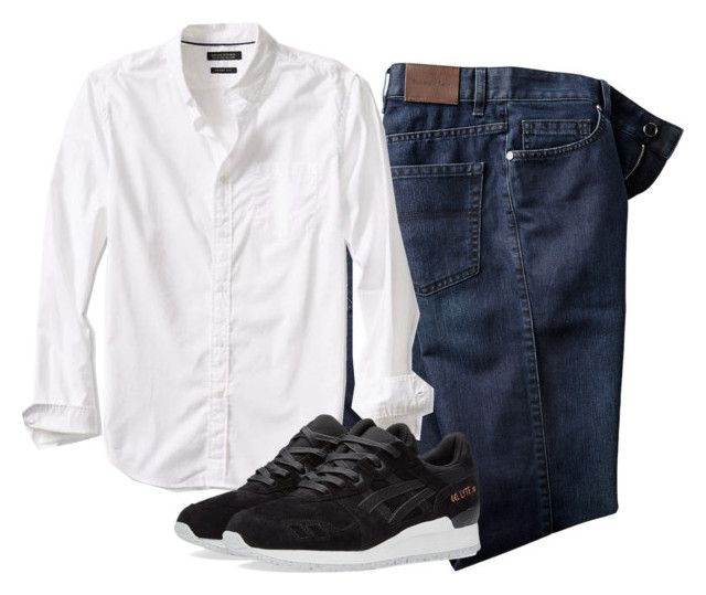 """""""Untitled #49"""" by agnisagynaika on Polyvore featuring Banana Republic, Asics, men's fashion and menswear"""