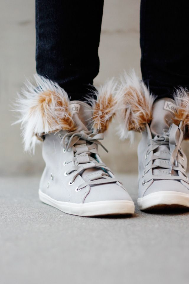 REMOVABLE FUR LINED HIGH TOPS TUTORIAL from see kate sew
