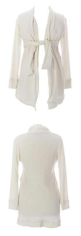 Sweaters 11538: Jules And Jim Maternity Women S Off-White Belted Cardigan J103 Size M $129 New -> BUY IT NOW ONLY: $38.69 on eBay!