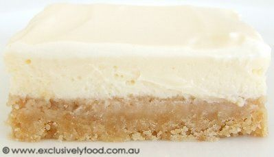 Exclusively Food: Lemon Cheesecake Slice Recipe