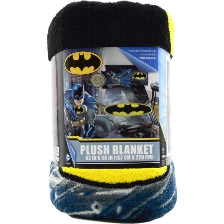 """DC Comics Batman City Safe 62"""" x 90"""" Kids Plush Blanket"""