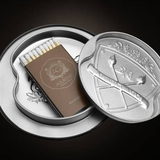 Just a reminder that every one of the black Aquiesse Portfolio tin, 100 hour , fabulously scented, wonderfully priced at $29.95,great quality candles have a box of matches in their lids - very handy little addition!!!!! http://www.candelabra.com.au/Aquiesse-Portfolio-Tin-Scented-Candles/