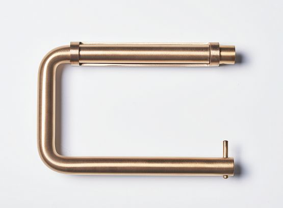 d line toilet roll holder in copper.